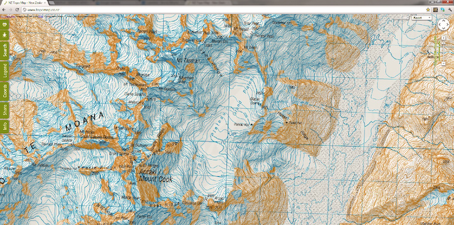 mountains of Topographical map europe with